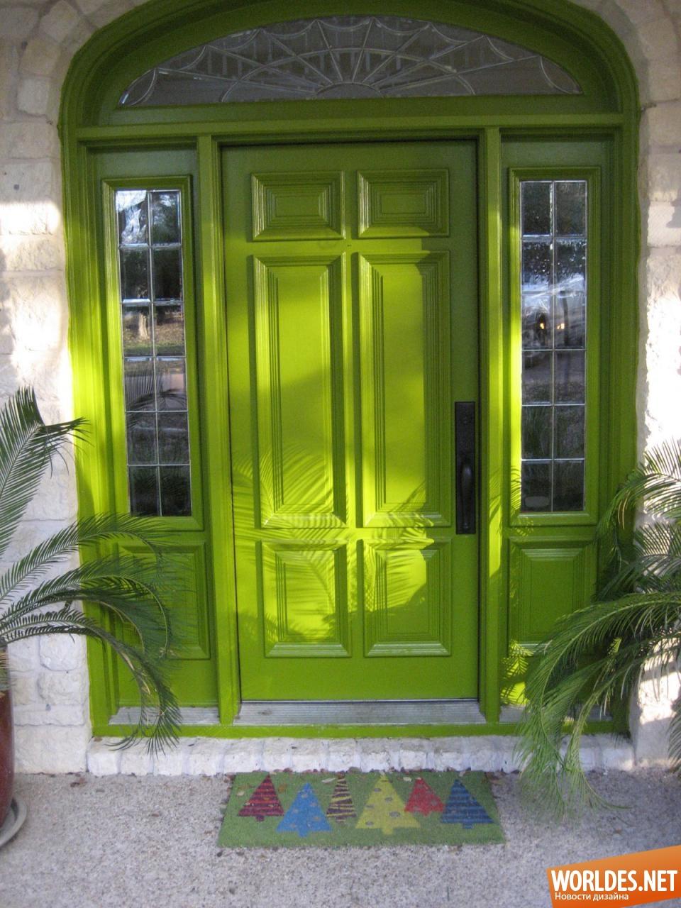 Дизайн окна и двери внутри