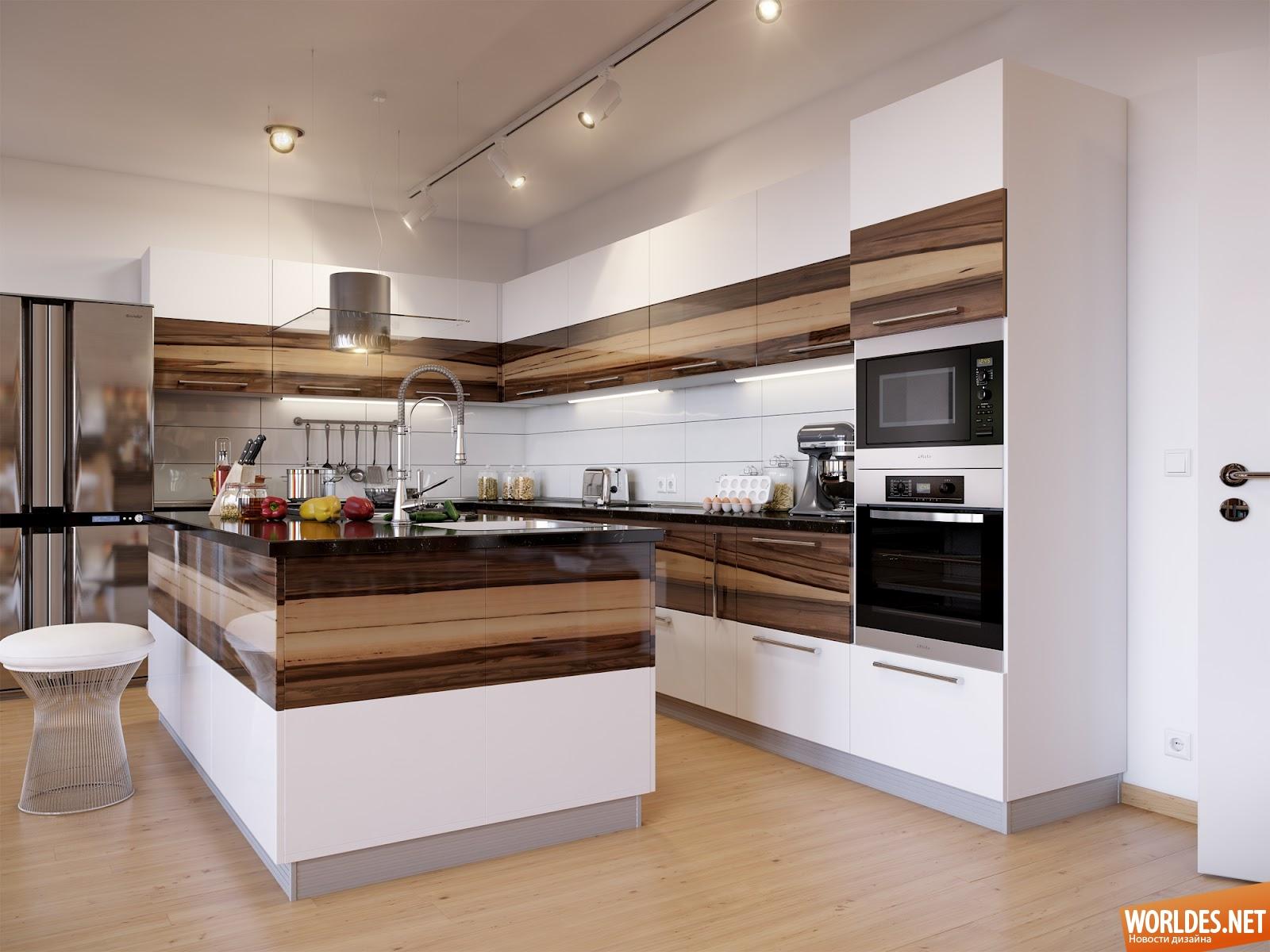 Кухня угловая с островом дизайн