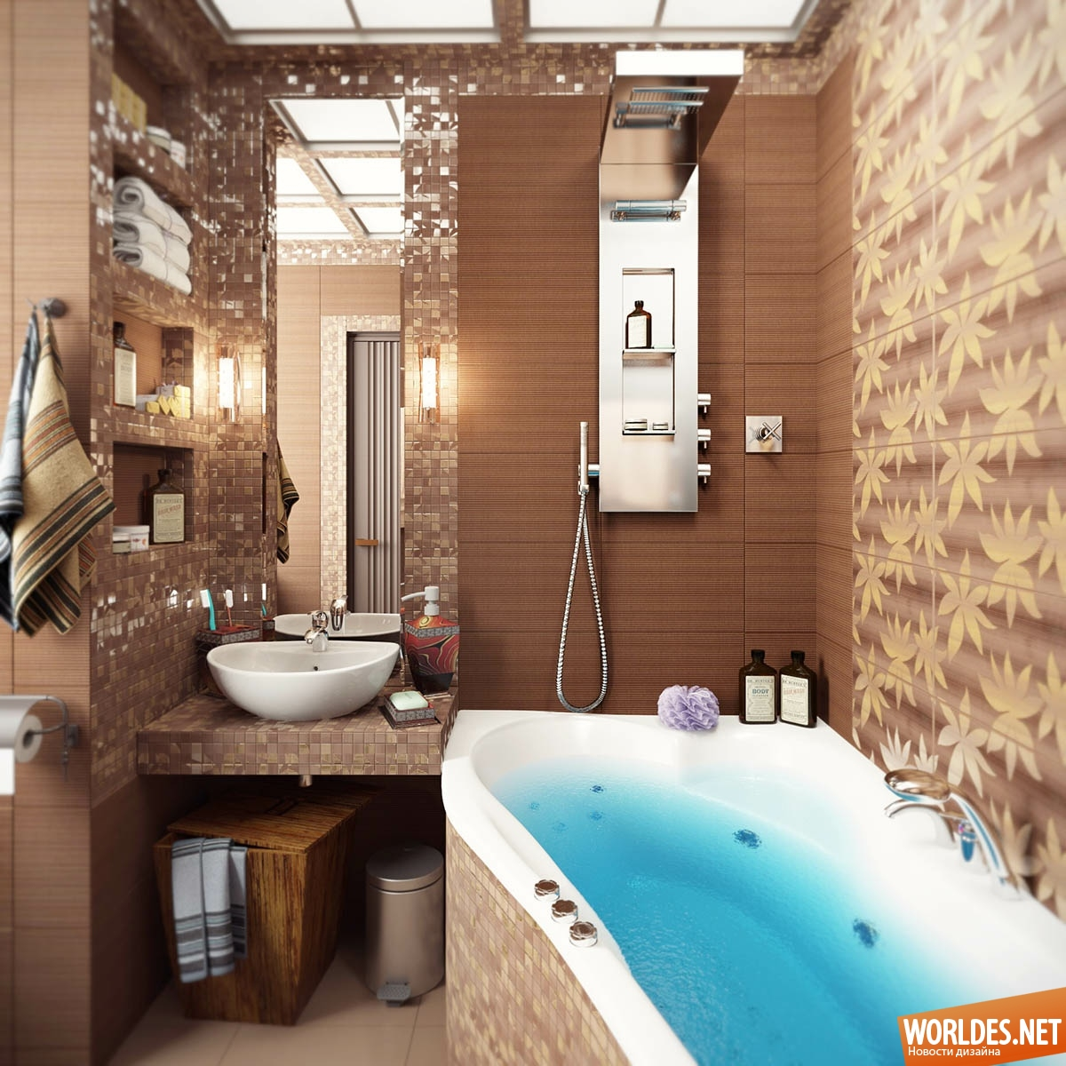 Очень маленькая ванная комната дизайн