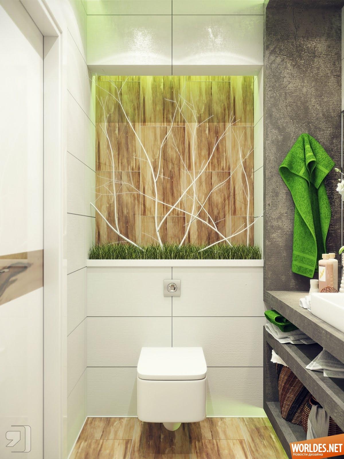 Дизайн интерьера маленькой ванной комнаты идеи интерьера