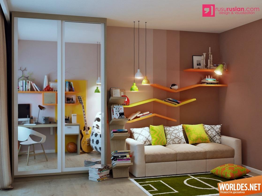 Идеи интерьера для детских комнат фото