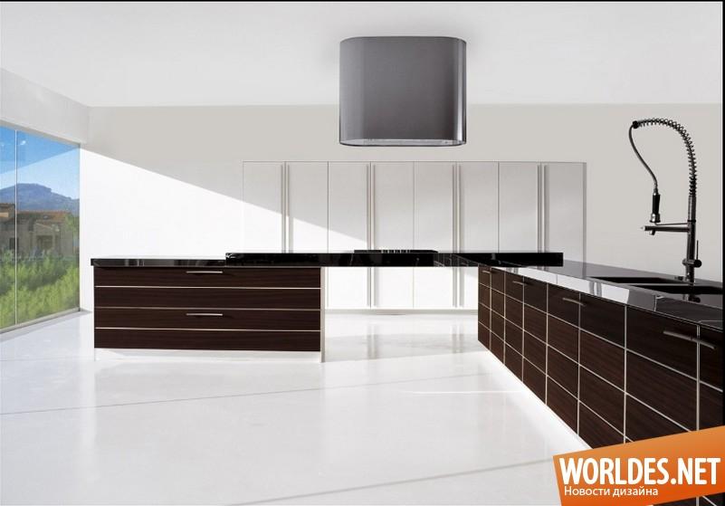 Яркие дизайны кухонь