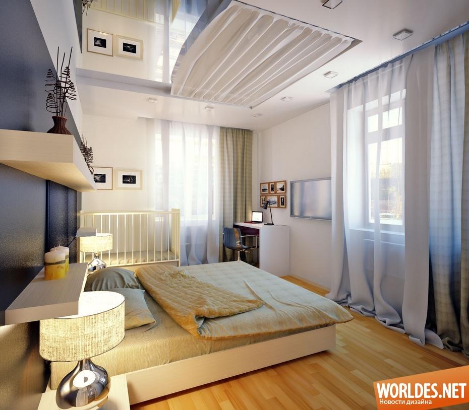современные спальни дизайн