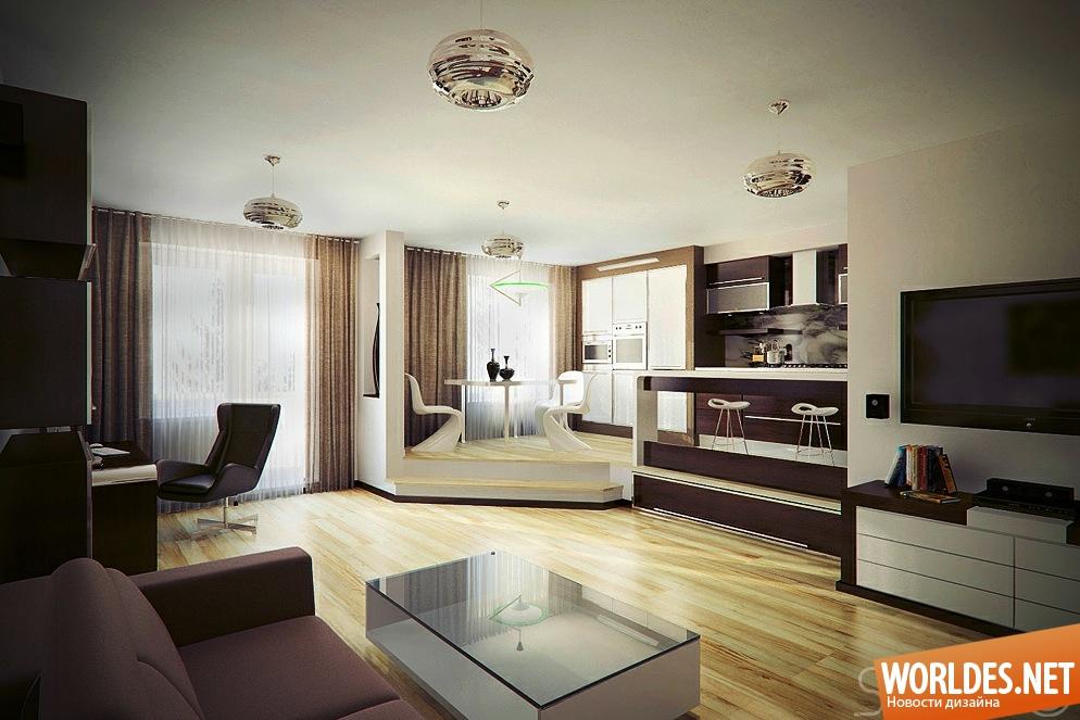 Интересный дизайн квартир студий