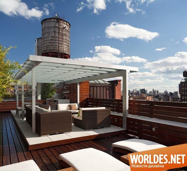 Дизайн террасы на крыше