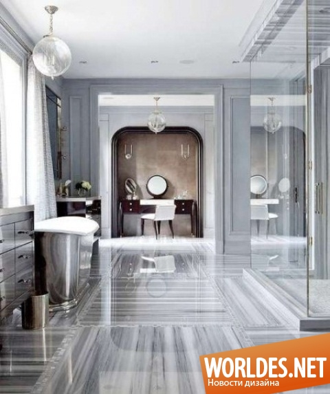 Grey marble bathroom