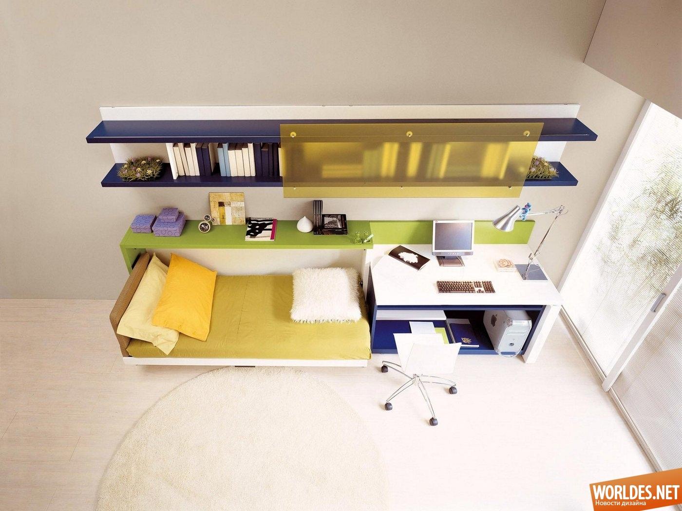 Великолепные примеры мебели, позволяющей сэкономить место в .