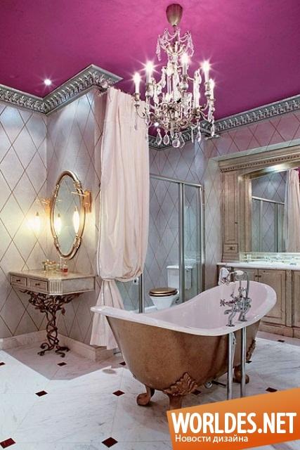 Классические люстры в ванную комнату