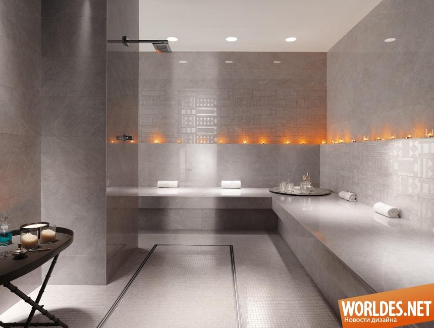 Grey marble bathrooms