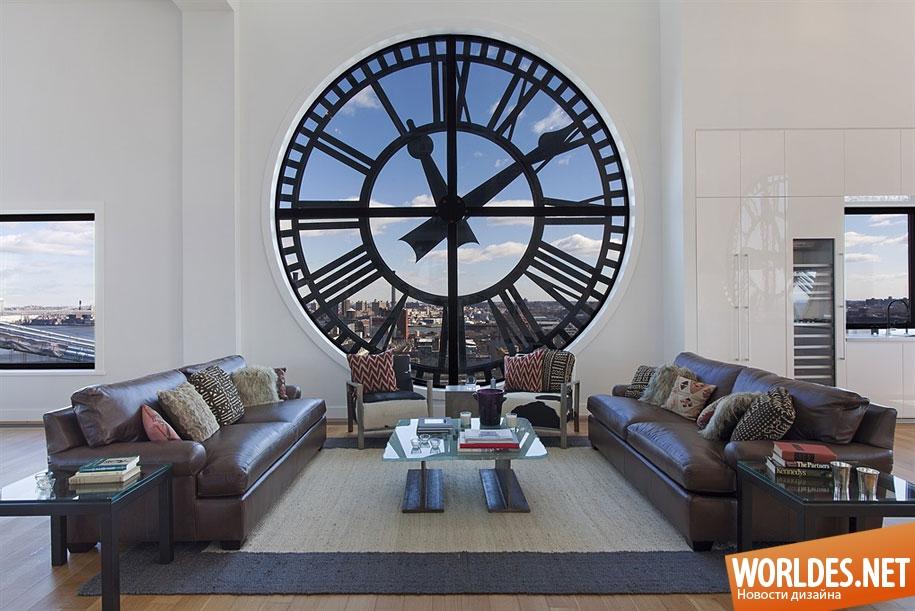 Часы в гостиной фото