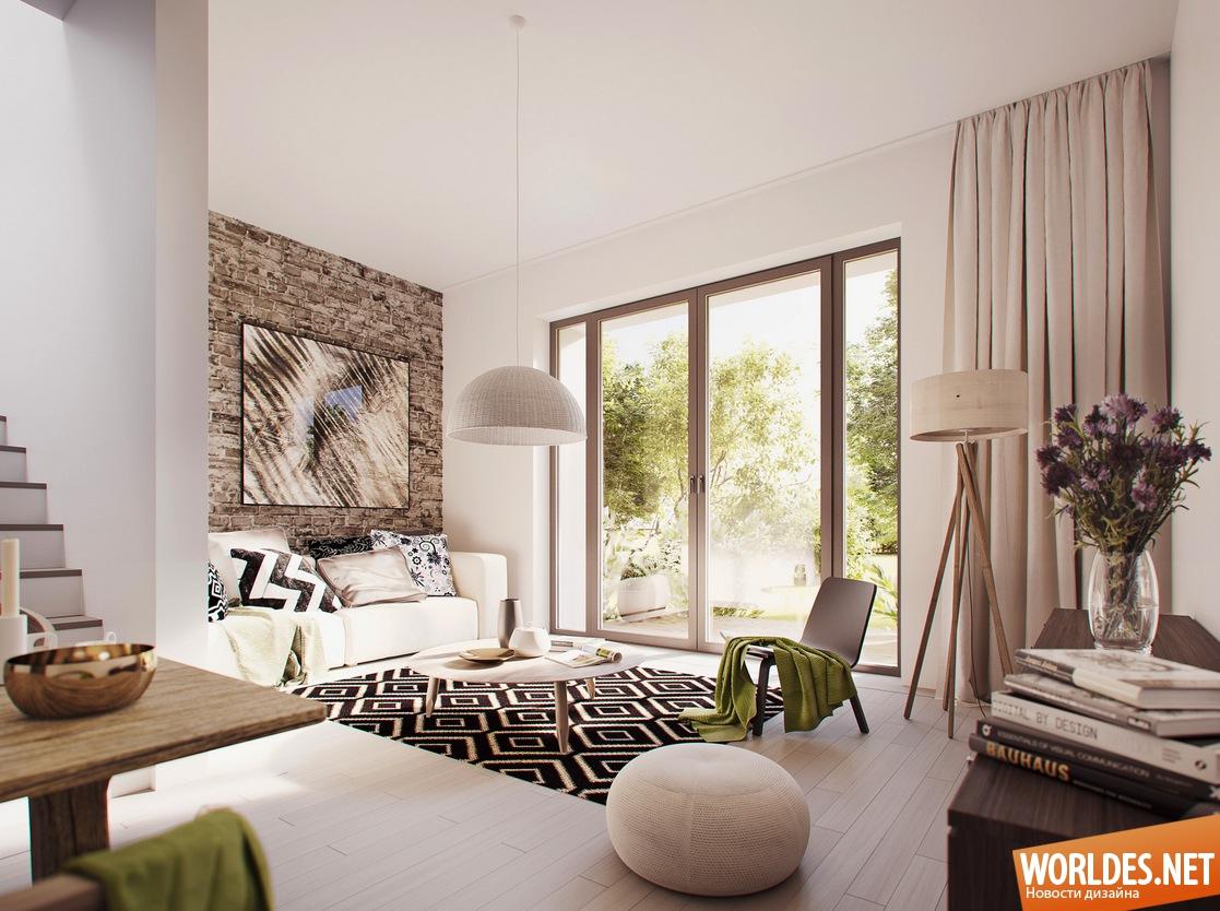 Красивые интерьеры гостиных