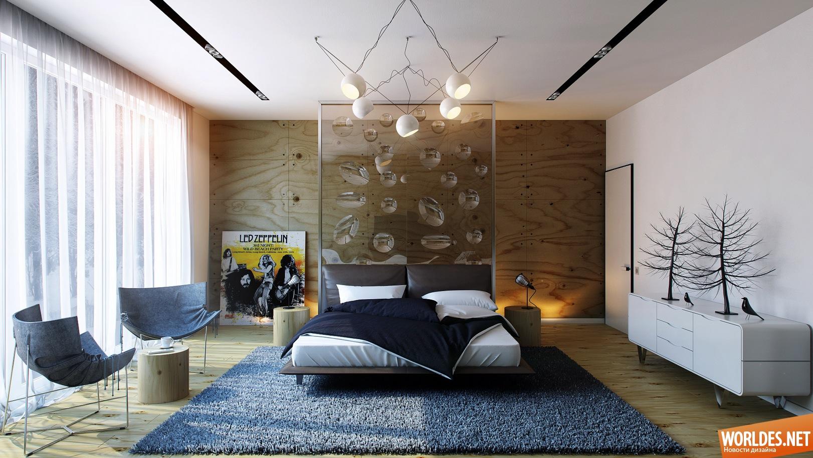 Дизайн современной спальни 20 кв.м фото
