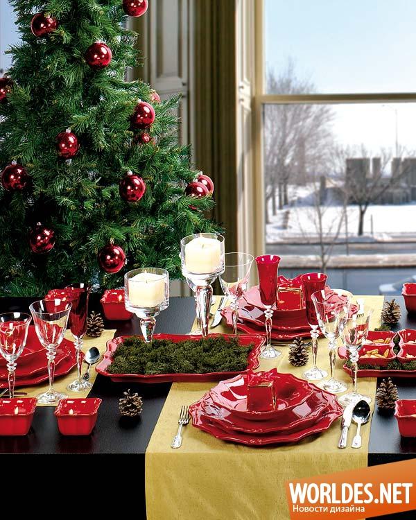 Как украсить стол к новому году 2015