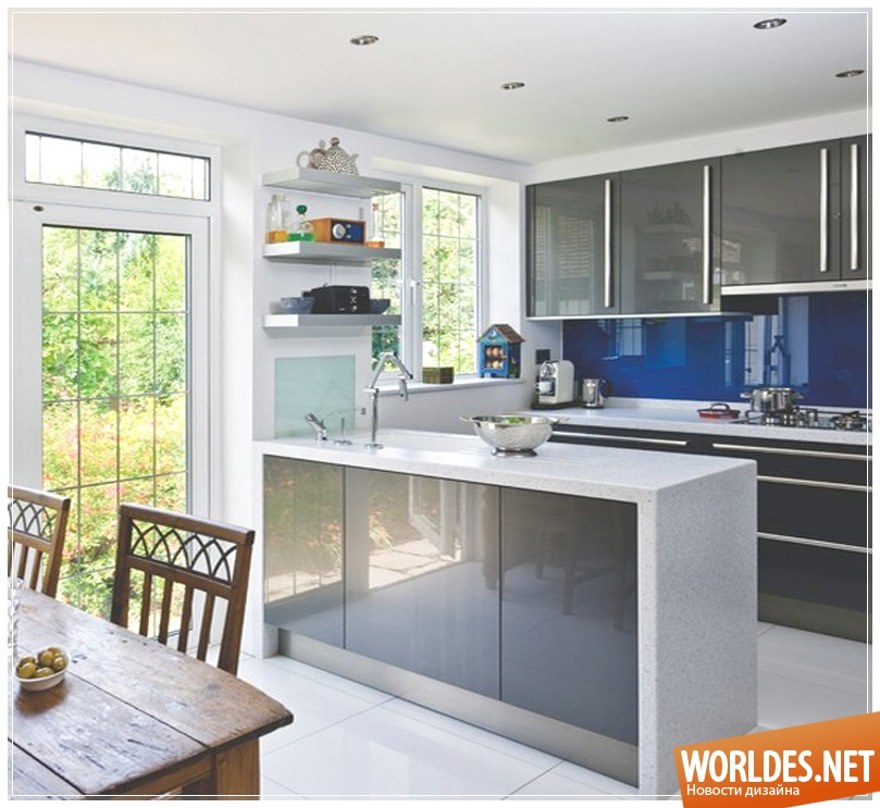 Цвета фото дизайн кухни серого цвета