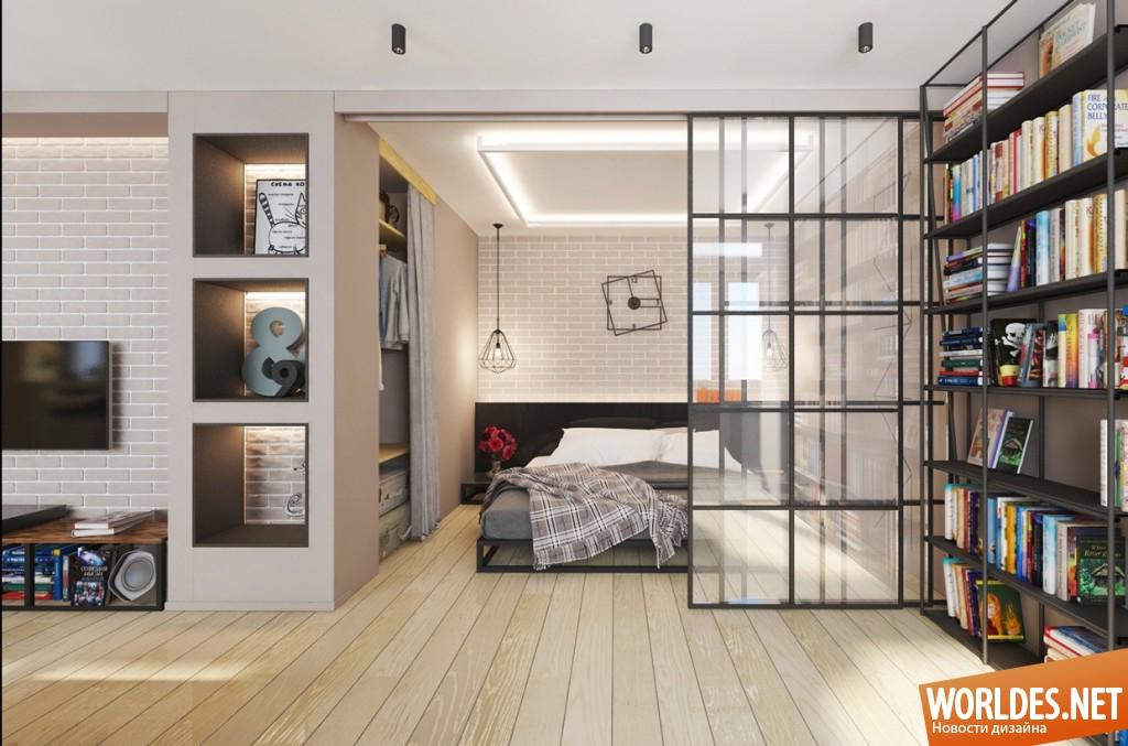 Современный дизайн однокомнатной квартиры фото 2016 современные идеи