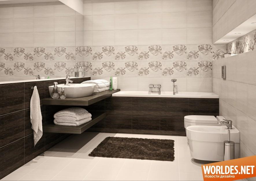 красивая керамическая плитка для ванной комнаты