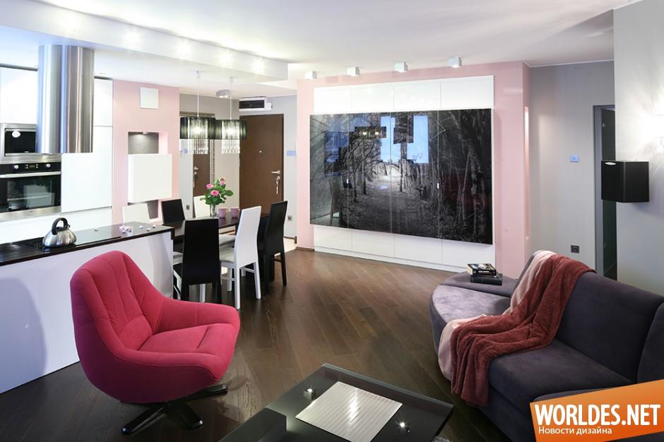 красивые квартиры-студии фото
