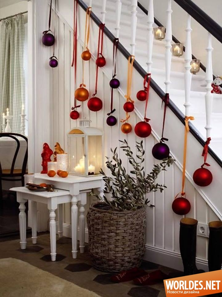 Новогодние украшения своими руками в доме