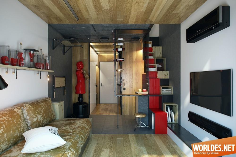 Фото дизайна однокомнатной квартиры 18 квм