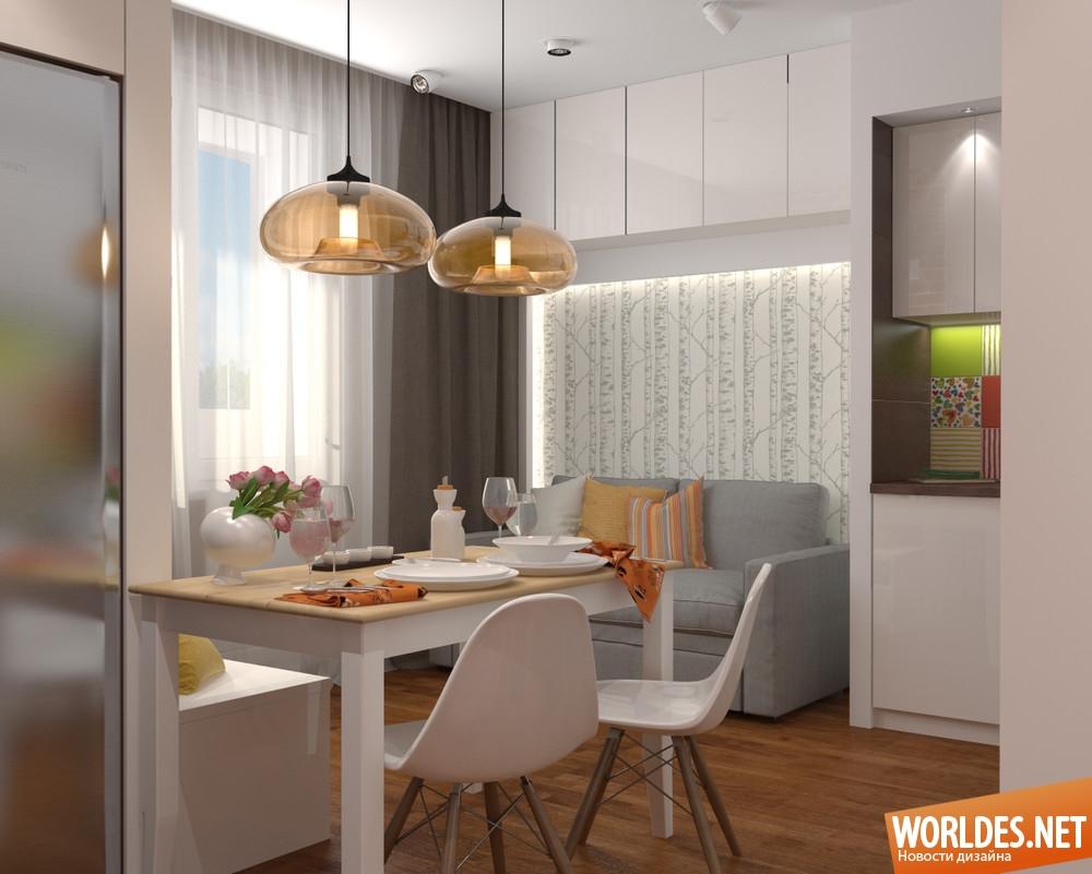 Идеи для кухни 19 кв.м