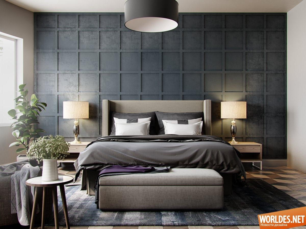 Стильные дизайн спальни