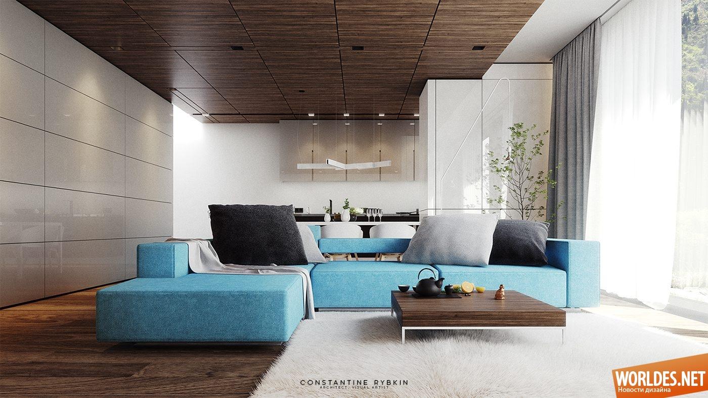 Дизайн комнаты стен 2017-2018 современные идеи