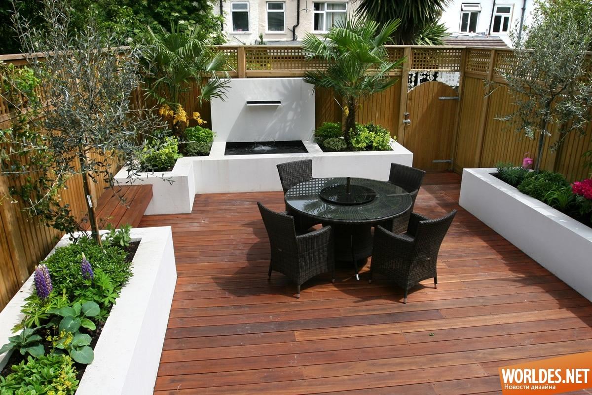 Идеи для дизайна двора в частном доме своими руками 75