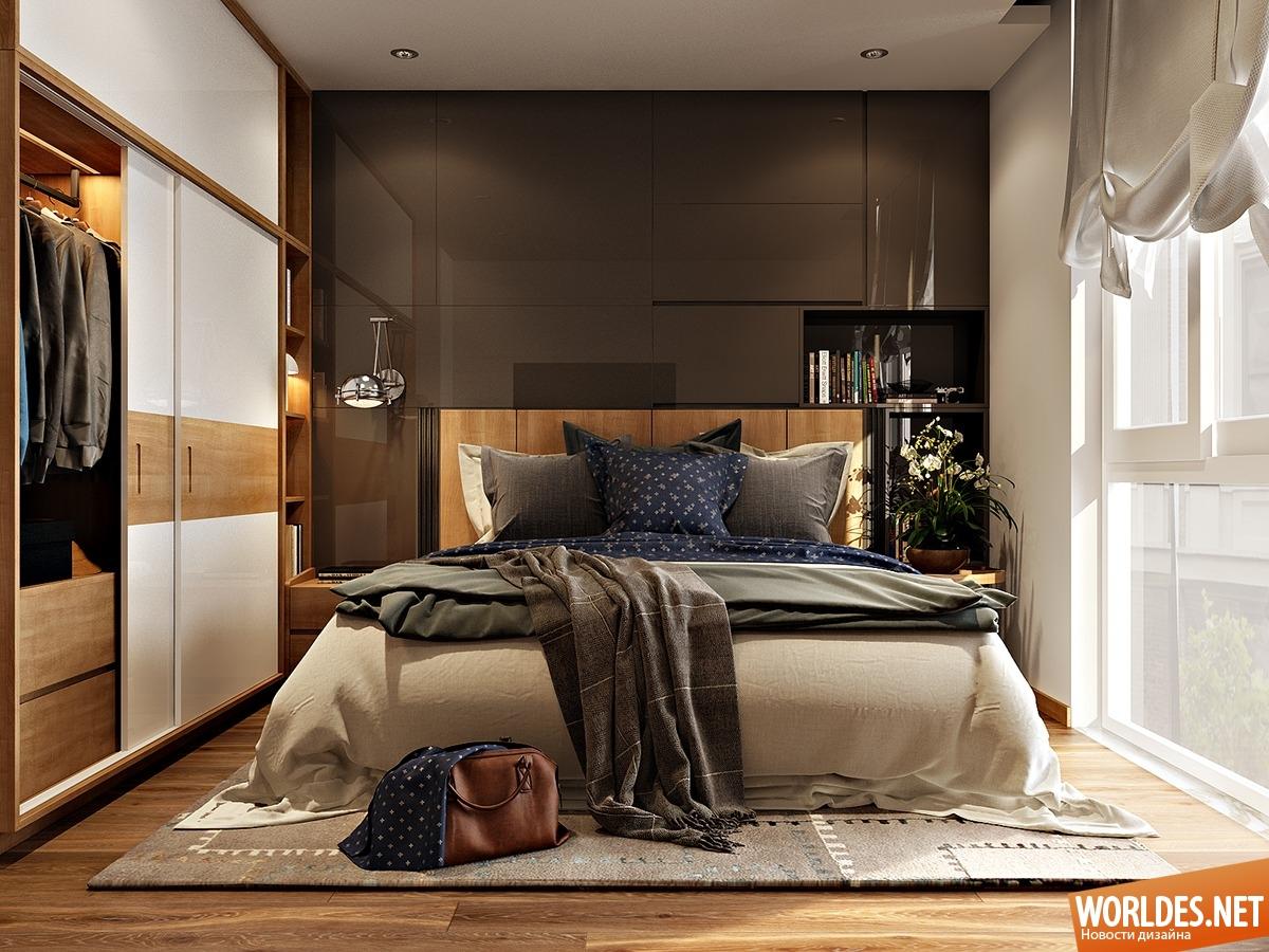 Уютная маленькая спальня дизайн
