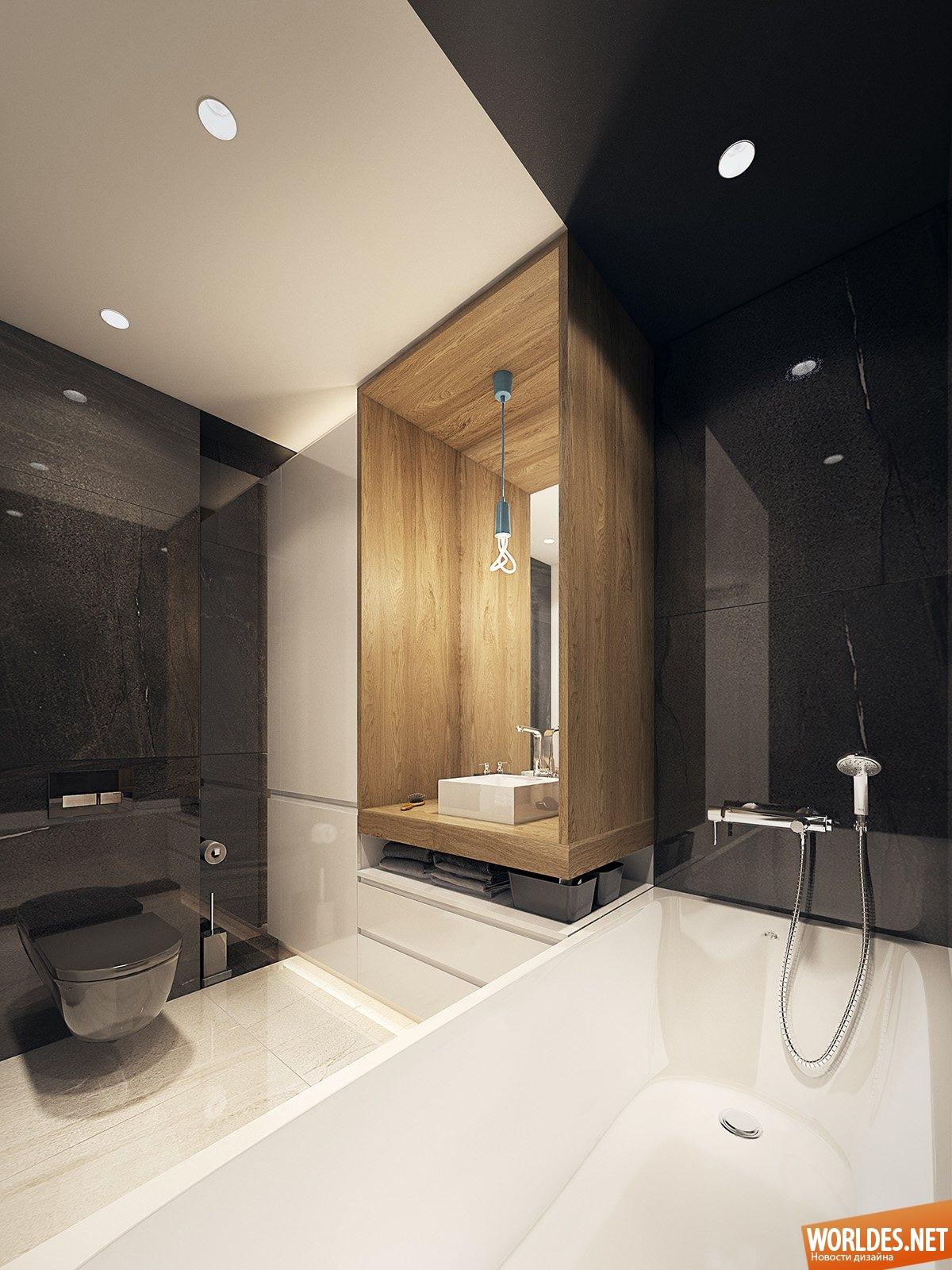 Дизайн ванной комнаты 25 метра