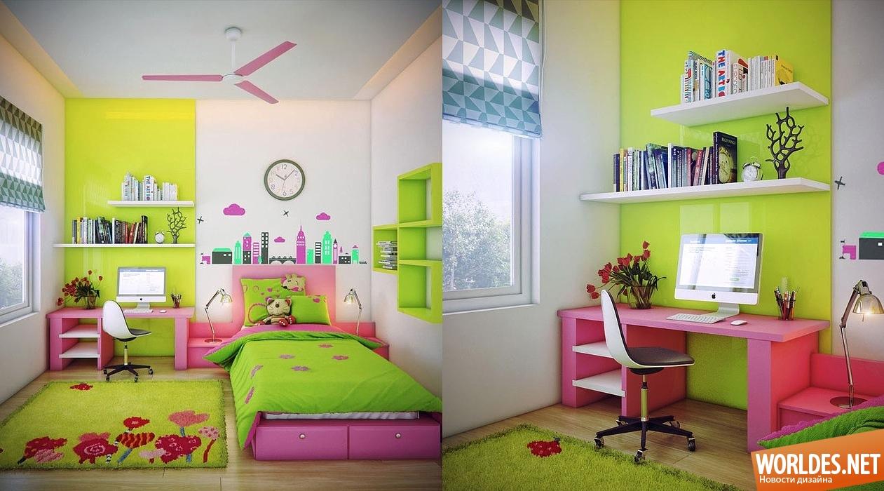 Дизайн детской для девочки идеи