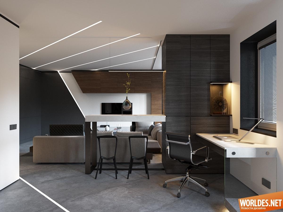 Дизайн квартиры площадью 50м2
