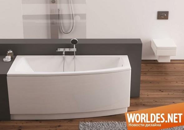 дизайн ванной комнаты, дизайн ванной, ванная комната, ванная, ванна, современная ванна, асимметричная ванна, асимметричные ванны