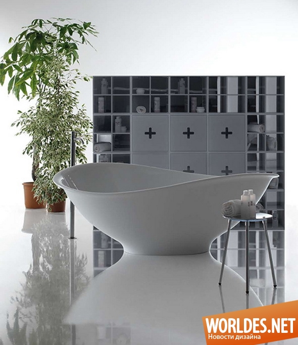 дизайн ванной комнаты, дизайн ванной, ванна, ванны, красивые ванны, современные ванны, ассиметричные ванны, оригинальные ванны