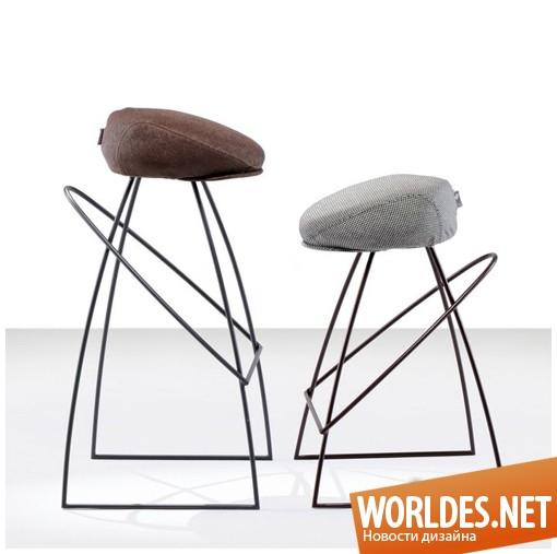 дизайн мебели, дизайн стульев, стулья, барные стулья, табуреты, оригинальные стулья, необычные стулья, современные стулья, стулья в виде кепки