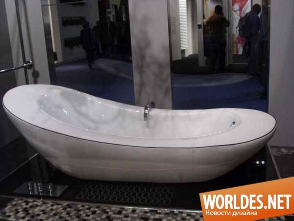 дизайн ванной комнаты, дизайн ванной, дизайн ванны, ванная комната, ванна, асимметричная ванна, белая ванна, оригинальная ванна, красивая ванна