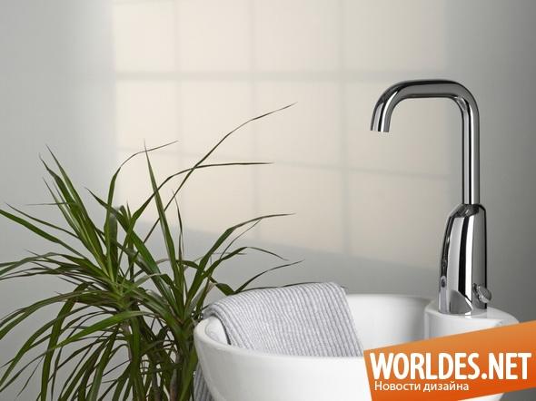 дизайн ванной комнаты, дизайн раковины, раковина, краны, бесконтактные краны, современные краны