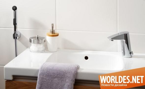 дизайн ванной комнаты, дизайн кранов для ванной комнаты, краны, краны для воды, смесители, бесконтактные краны