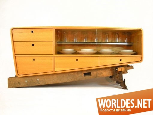 дизайн мебели, дизайн буфета, буфет, современный буфет, оригинальный буфет, необычный буфет, шкаф, практичный буфет, функциональный буфет
