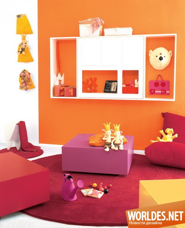 дизайн интерьера, дизайн интерьеров, дизайн интерьера детской комнаты, интерьер детской комнаты, цвета в детской комнате, оформление детской комнаты