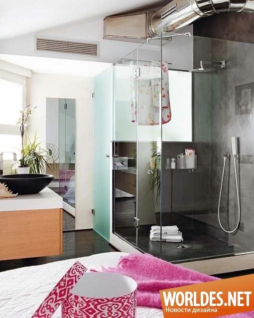 архитектурный дизайн, архитектурный дизайн квартиры, квартира, дизайн квартиры, современная квартира, яркая квартира, цветная квартира, двухэтажная квартира, цветная квартира, уютная квартира, цветная квартира в Мадриде