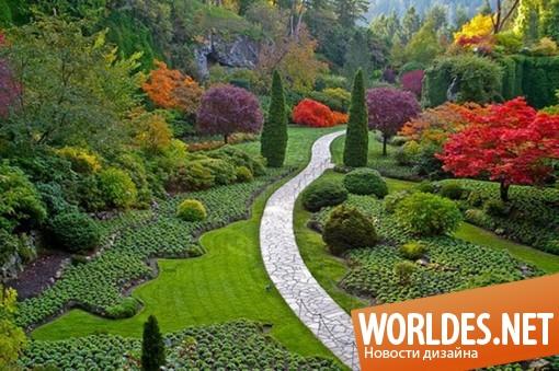 ландшафтный дизайн, ландшафтный дизайн сада, дизайн сада, украшение сада, украшение газона, красивый сад, декорирование сада