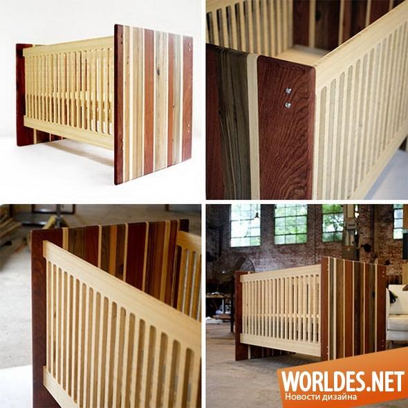 дизайн мебели, дизайн кроватки, дизайн детской кроватки, кроватка, детская кроватка, деревянные детские кроватки, практичные детские кроватки, красивые детские кроватки, простые детские кроватки