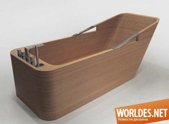дизайн ванной комнаты, дизайн ванны, дизайн ванной, ванна, современная ванна, деревянная ванна