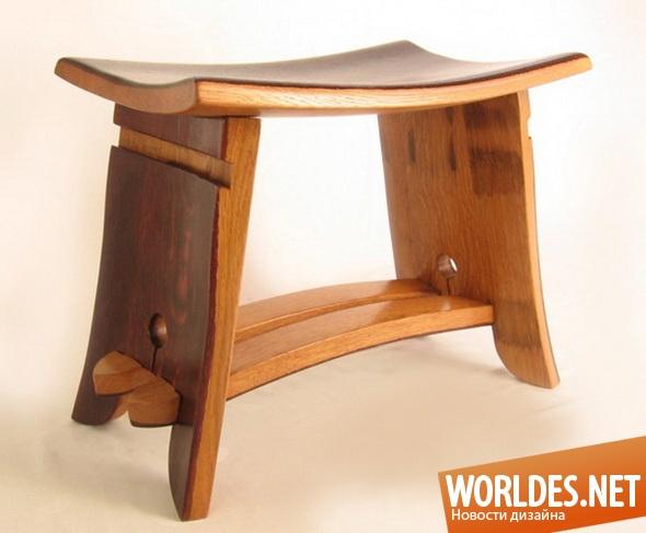 дизайн мебели, дизайн табурета, табурет, деревянный табурет, практичный табурет, кухонный табурет, современный табурет