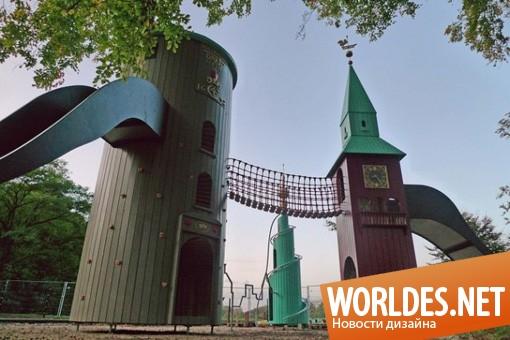 ландшафтный дизайн, дизайн игровой площадки, игровая площадка, детская игровая площадка