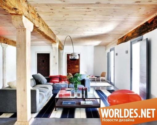 дизайн, дизайн интерьера, дизайн интерьера дома, дизайн дома, дизайн дома в деревенском стиле, дом в деревенском стиле от Анны Жиро