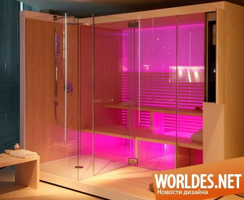 дизайн ванной комнаты, дизайн сауны, сауна, домашняя сауна