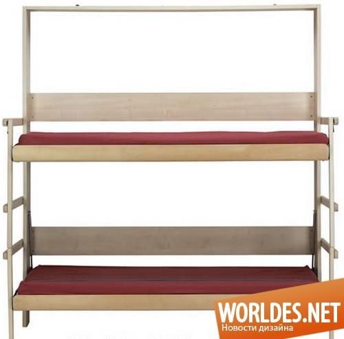 дизайн мебели, дизайн кровати, кровать, детская кровать, двухъярусная кровать, современная кровать, двухъярусная детская кровать