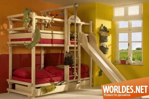 дизайн мебели, дизайн кроватей, кровати для детей, двухъярусные кровати, практичные кровати, многофункциональные кровати, современные детские кровати, детские кровати