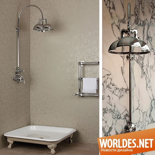 дизайн, дизайн ванной комнаты, дизайн душа, душ, душ в стиле ретро, оригинальный душ, ванная комната в стиле ретро
